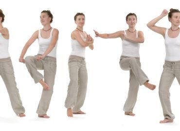 žena cvičící qi gong